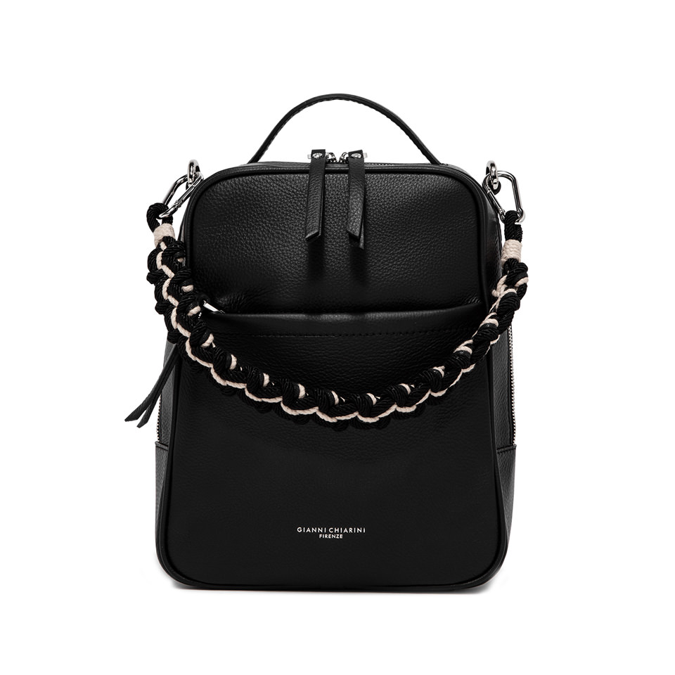 GIANNI CHIARINI: LARGE SIZE RALLY BACKPACK COLOR LIGHT BLACK
