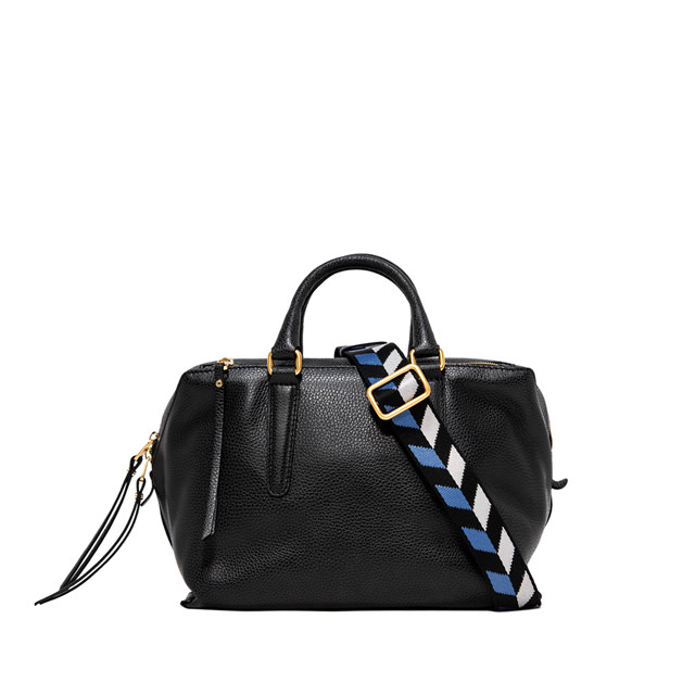 GIANNI CHIARINI: ISABELLA  MEDIUM  BLACK  SHOULDER  BAG