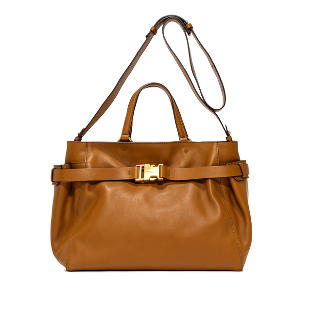 GIANNI CHIARINI: STELLA  LARGE  BROWN  HANDBAG