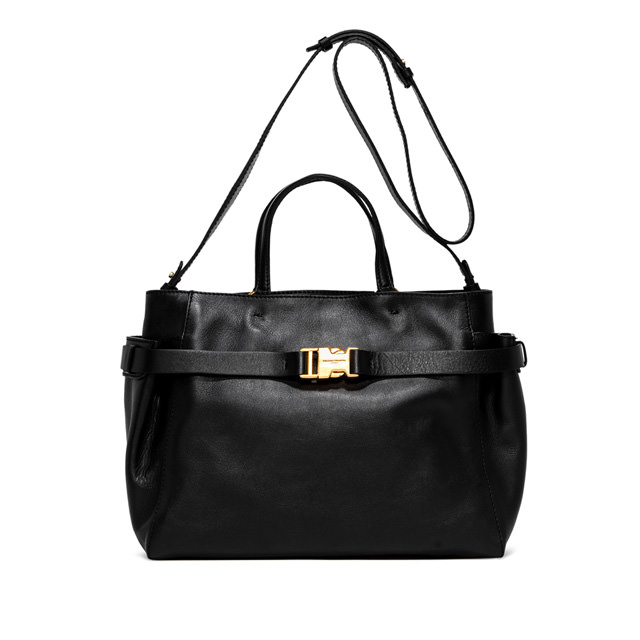 GIANNI CHIARINI: STELLA  LARGE  BLACK  HANDBAG