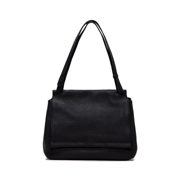 GIANNI CHIARINI ETHNA  MEDIUM  BLACK  SHOULDER  BAG