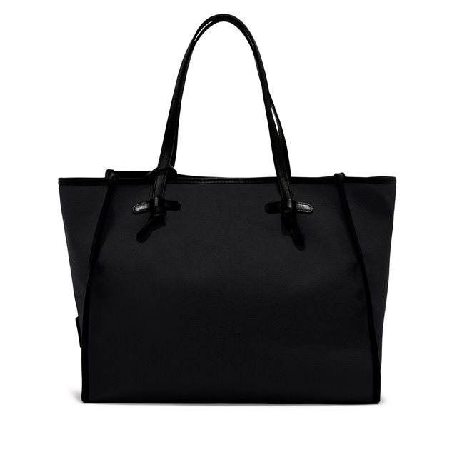 GIANNI CHIARINI: MARCELLA  DOUBLE  MEDIUM  BLACK  SHOULDER BAG