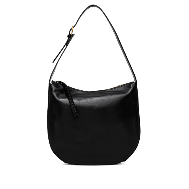 GIANNI CHIARINI: PETRA  LARGE  BLACK  SHOULDER  BAG