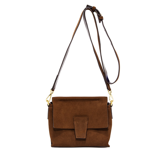 GIANNI CHIARINI ELETTRA  SMALL  BROWN  HANDBAG