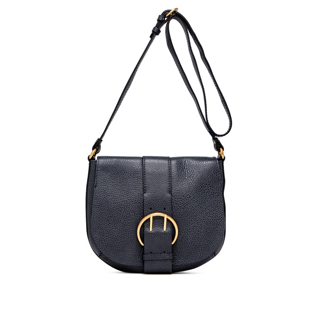 GIANNI CHIARINI: FULVIA  MEDIUM  BLUE  CROSSBODY  BAG
