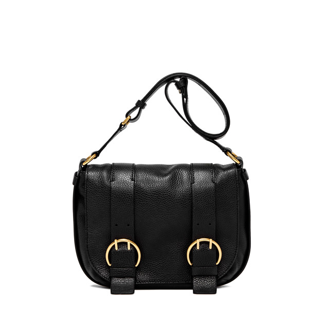 GIANNI CHIARINI HARLEY  MEDIUM  BLACK  SHOULDER  BAG