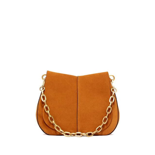 GIANNI CHIARINI HELENA  ROUND  MEDIUM  ORANGE  CROSS  BODY  BAG