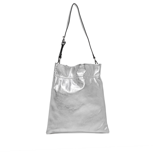 GIANNI CHIARINI LARGE SIZE MEMORY SHOULDER BAG COLOR SILVER