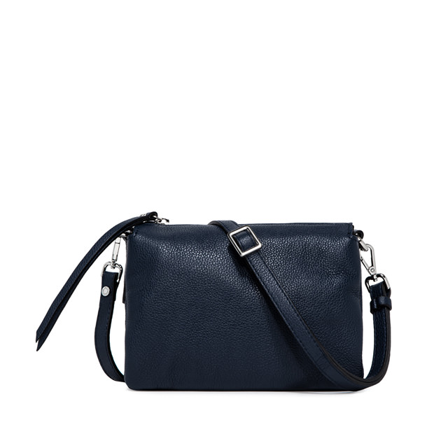 GIANNI CHIARINI: BORSA  A  TRACOLLA  THREE  MEDIUM  BLU