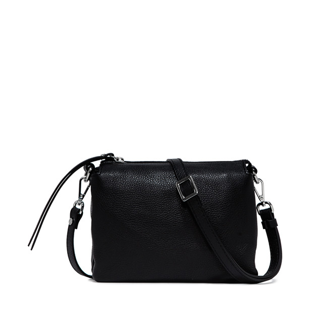 GIANNI CHIARINI: BORSA  A  TRACOLLA  THREE  MEDIUM  NERO