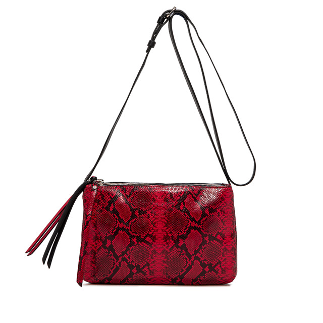 GIANNI CHIARINI: LARGE SIZE TRINNY CROSSBODY BAG COLOR RED