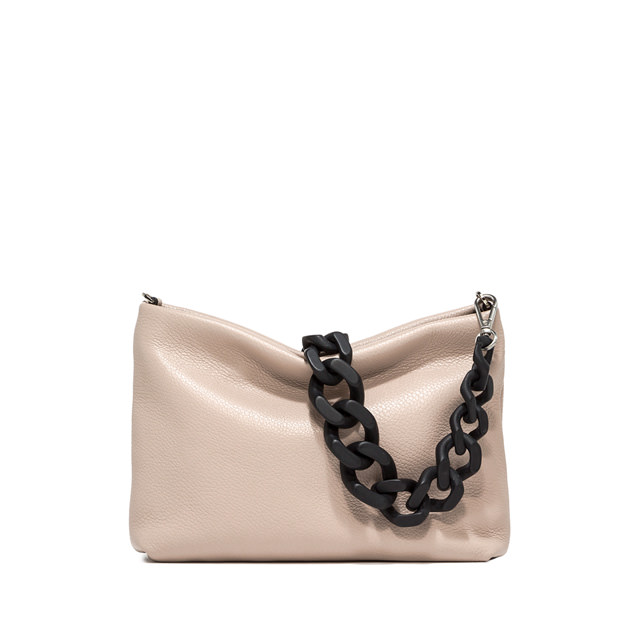 GIANNI CHIARINI MEDIUM SIZE BRENDA SHOULDER BAG COLOR BEIGE