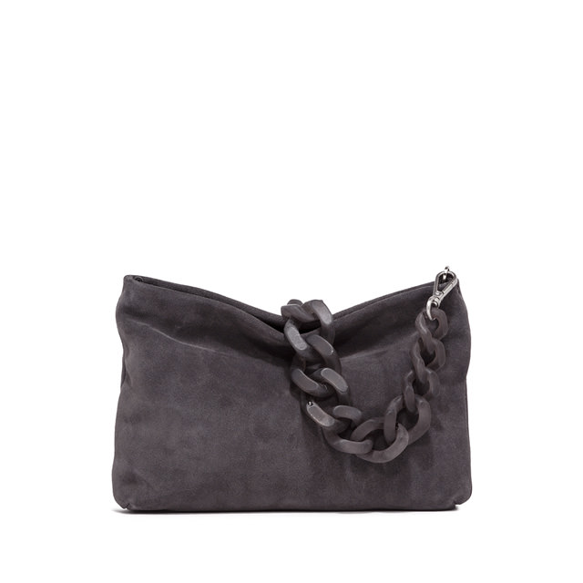 GIANNI CHIARINI MEDIUM SIZE BRENDA SHOULDER BAG COLOR GRAY