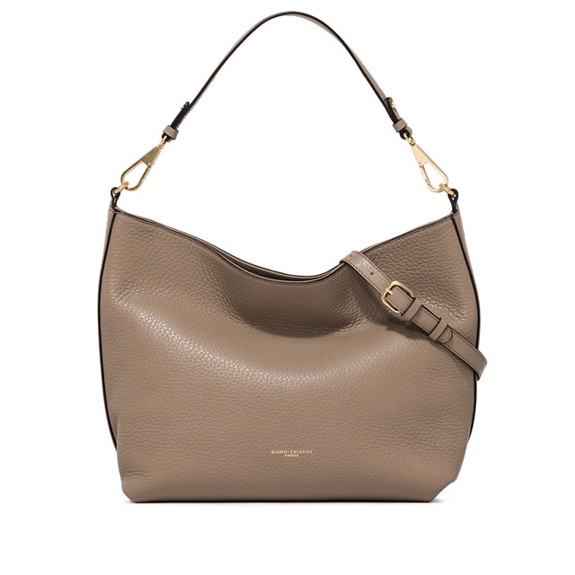 GIANNI CHIARINI LARGE SIZE NEW STUFFY SHOULDER BAG COLOR BEIGE