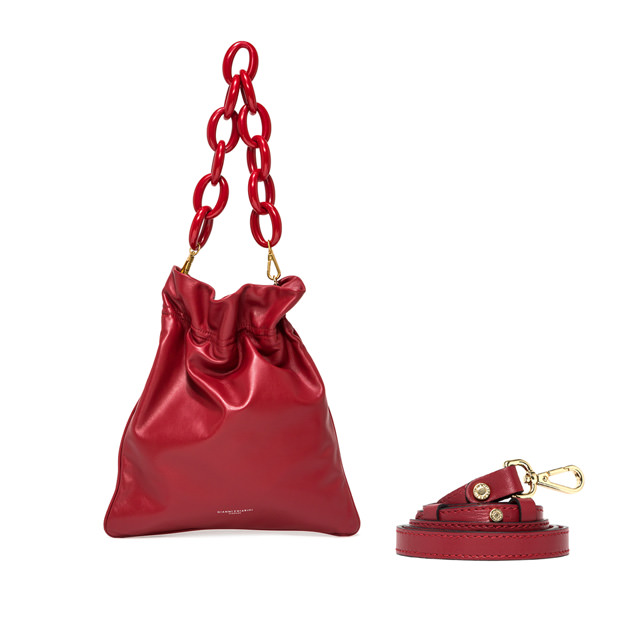 GIANNI CHIARINI MEDIUM SIZE MEMORY SHOULDER BAG COLOR RED