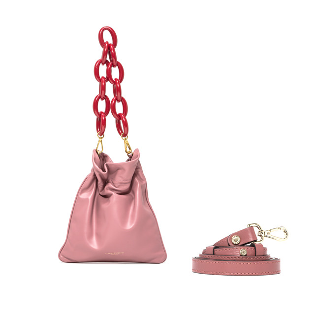 GIANNI CHIARINI SMALL SIZE MEMORY SHOULDER BAG COLOR PINK