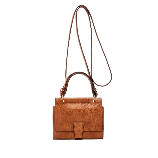 GIANNI CHIARINI ELETTRA MINI BAG   WALLET   SMALL  BROWN
