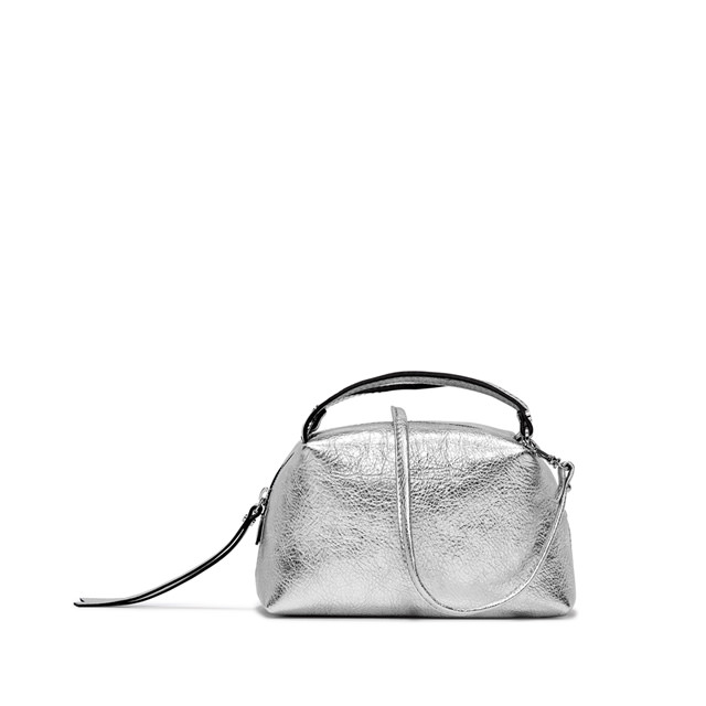 GIANNI CHIARINI: SMALL SIZE ALIFA CROSSBODY BAG COLOR SILVER