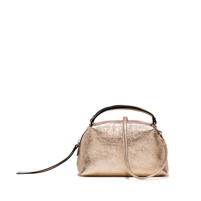 GIANNI CHIARINI: SMALL SIZE ALIFA CROSSBODY BAG COLOR BRONZE