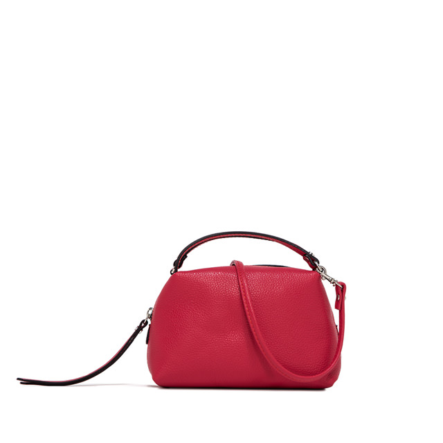 GIANNI CHIARINI: SMALL SIZE ALIFA HAND BAG COLOR FUCHSIA