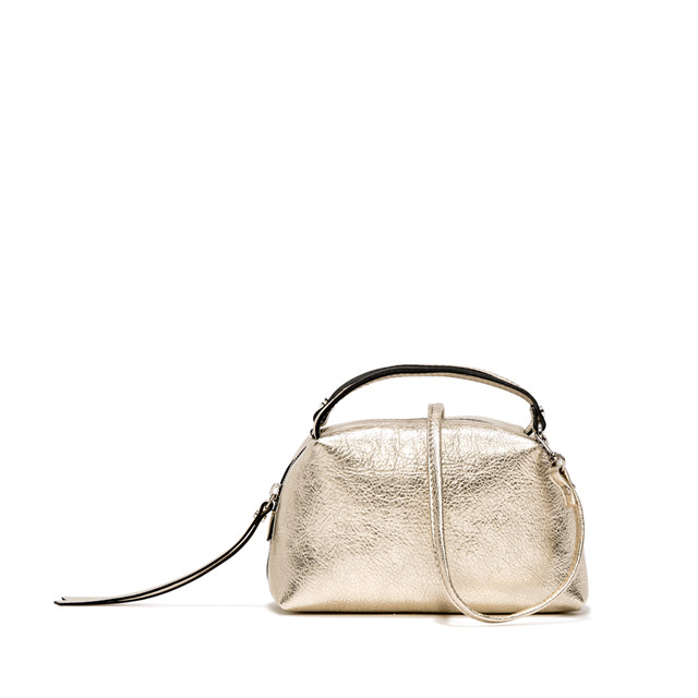 GIANNI CHIARINI: SMALL SIZE ALIFA HAND BAG COLOR GOLD