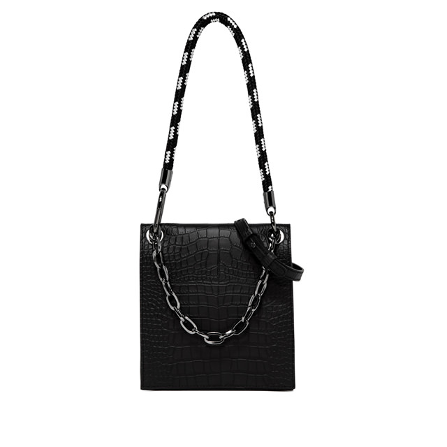 GIANNI CHIARINI ALTHEA MEDIUM BLACK HANDBAG
