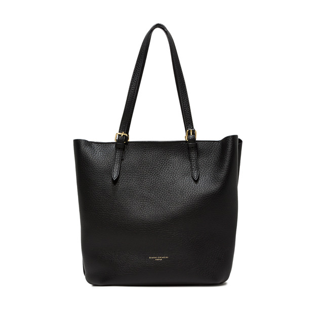 GIANNI CHIARINI: LARGE SIZE BELLA SHOPPING COLOR BLACK