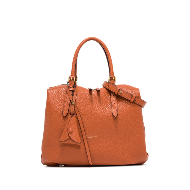 GIANNI CHIARINI MEDIUM SIZE BELLA HAND BAG COLOR ORANGE