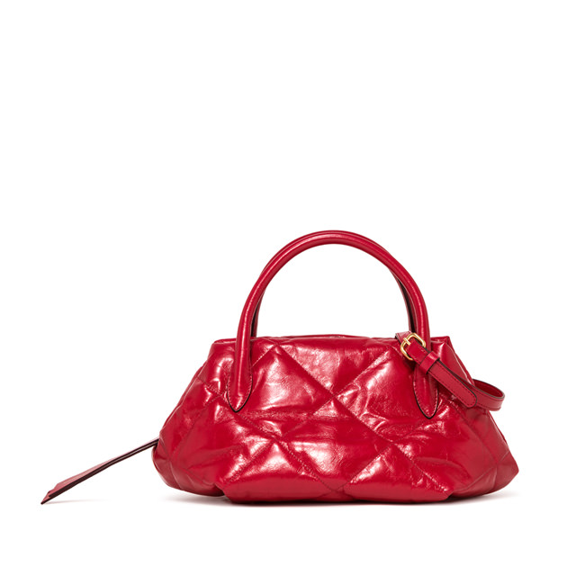 GIANNI CHIARINI LARGE SIZE COLETTE HAND BAG COLOR RED