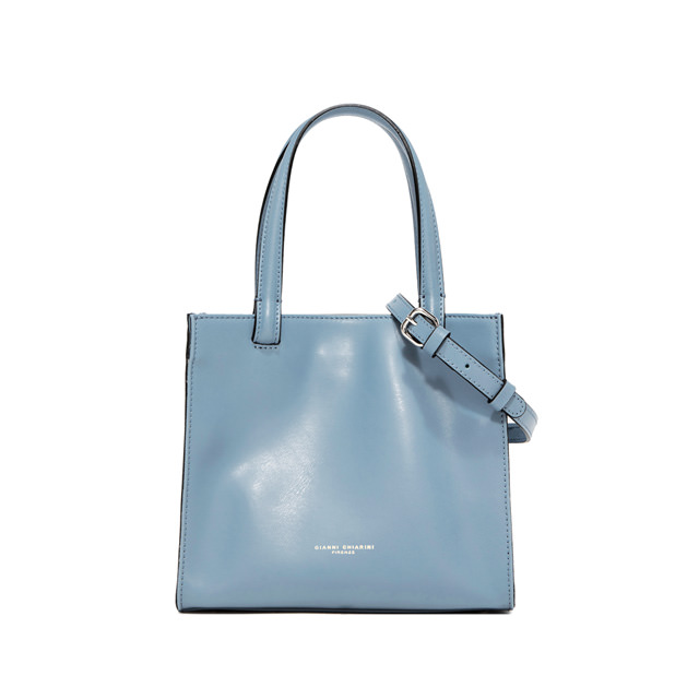 GIANNI CHIARINI MEDIUM SIZE CUBE HAND BAG COLOR LIGHT BLUE