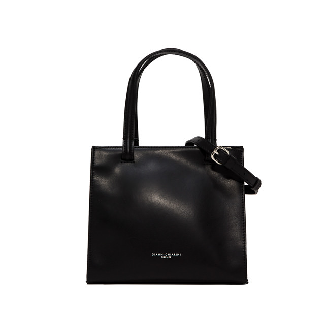 GIANNI CHIARINI MEDIUM SIZE CUBE HAND BAG COLOR BLACK
