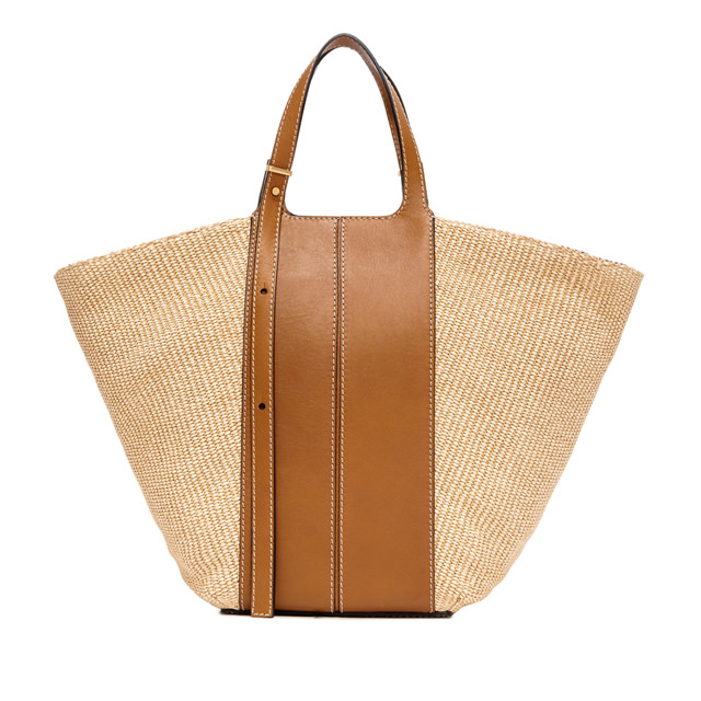 GIANNI CHIARINI: MEDIUM SIZE DILETTA HAND BAG COLOR BEIGE/BROWN