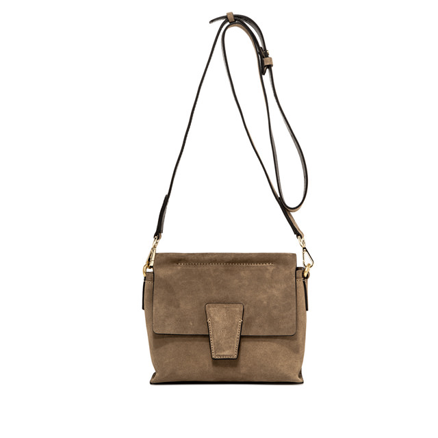 GIANNI CHIARINI ELETTRA CAMOSCIO SMALL BEIGE  SHOULDERBAG