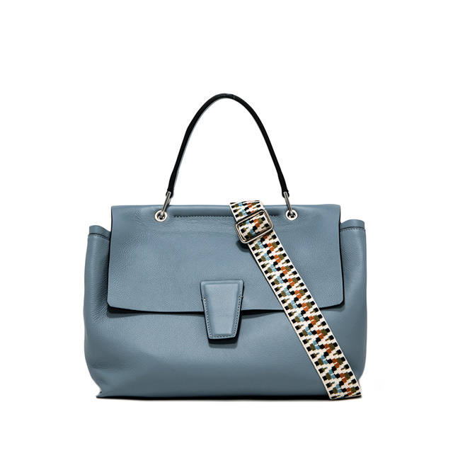 GIANNI CHIARINI LARGE SIZE ELETTRA HAND BAG COLOR LIGHT BLUE