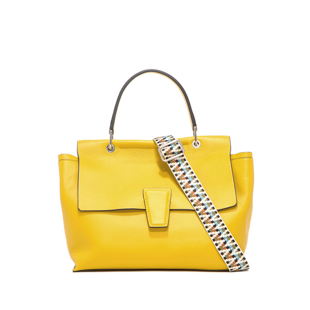 GIANNI CHIARINI LARGE SIZE ELETTRA HAND BAG COLOR YELLOW
