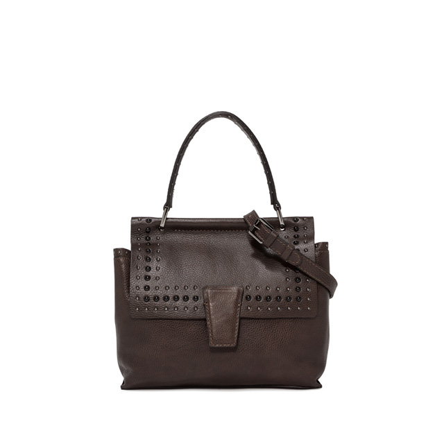 GIANNI CHIARINI ELETTRA MEDIUM BROWN HANDBAG