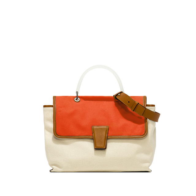 GIANNI CHIARINI MEDIUM SIZE ELETTRA HAND BAG COLOR ORANGE