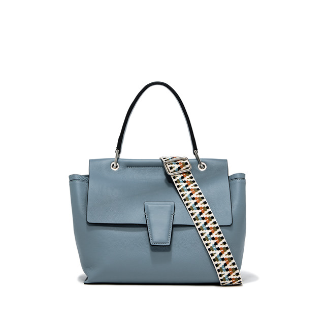 GIANNI CHIARINI MEDIUM SIZE ELETTRA HAND BAG COLOR LIGHT BLUE