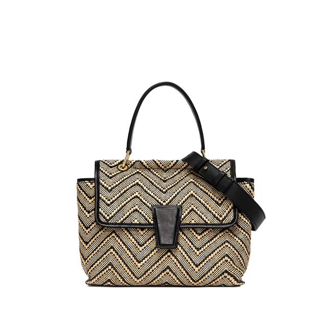 GIANNI CHIARINI: MEDIUM SIZE ELETTRA HAND BAG COLOR BEIGE