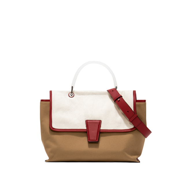 GIANNI CHIARINI: MEDIUM SIZE ELETTRA HAND BAG COLOR WHITE