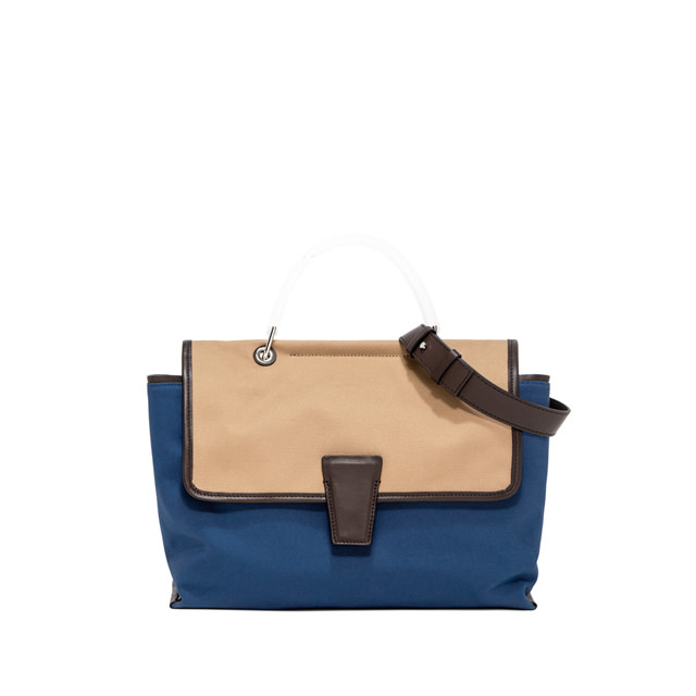 GIANNI CHIARINI: MEDIUM SIZE ELETTRA HAND BAG COLOR BLUE