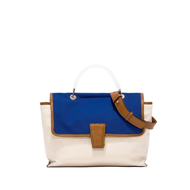 GIANNI CHIARINI MEDIUM SIZE ELETTRA HAND BAG COLOR BLUE