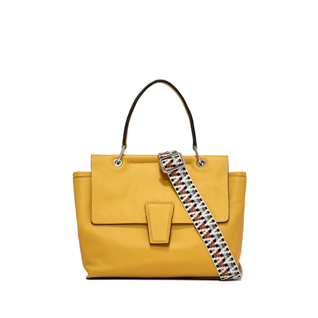 GIANNI CHIARINI MEDIUM SIZE ELETTRA HAND BAG COLOR YELLOW