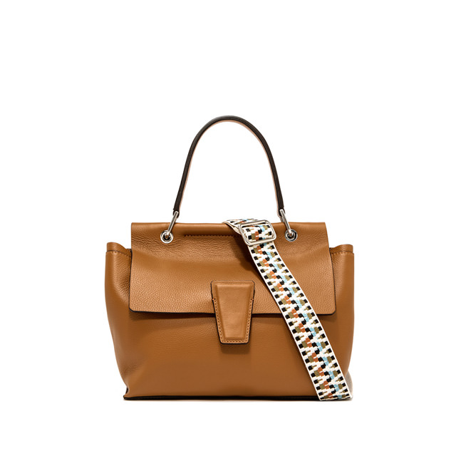 GIANNI CHIARINI: MEDIUM SIZE ELETTRA HAND BAG COLOR BROWN