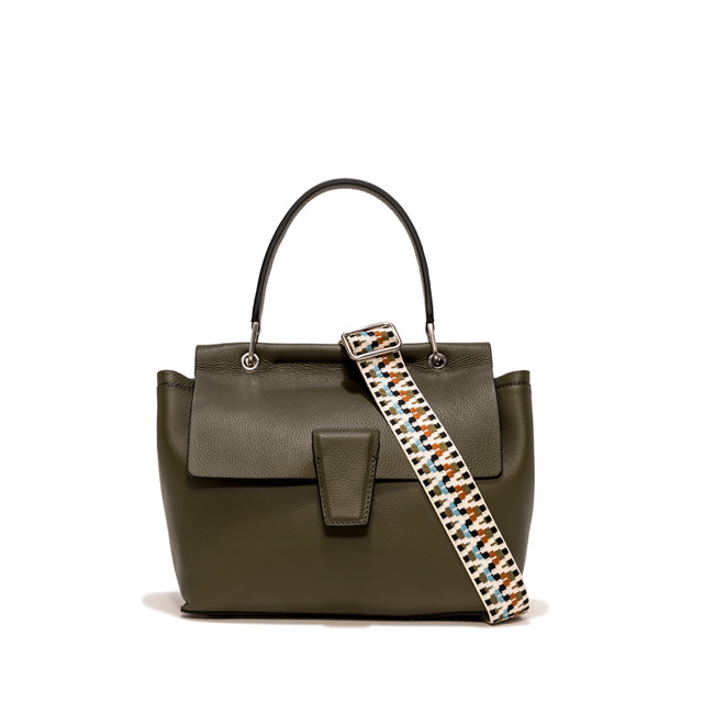 GIANNI CHIARINI MEDIUM SIZE ELETTRA HAND BAG COLOR GREEN