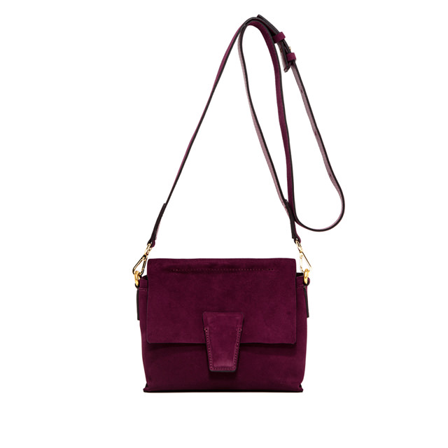 GIANNI CHIARINI ELETTRA ROMANCE SMALL BURGUNDY SHOULDERBAG