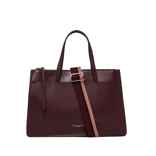 GIANNI CHIARINI BORSA A MANO EMPIRE LARGE BORDEAUX