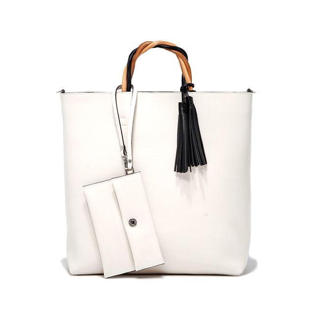 GIANNI CHIARINI LARGE SIZE FRANCESCA HAND BAG COLOR WHITE