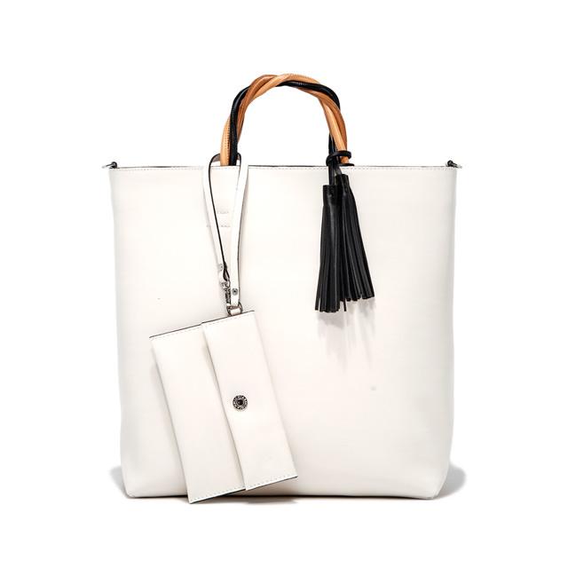 GIANNI CHIARINI: LARGE SIZE FRANCESCA HAND BAG COLOR WHITE