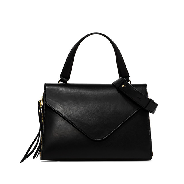 GIANNI CHIARINI GRETA MEDIUM BLACK HANDBAG